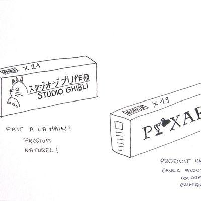 Dessin Du Jour : Ghibli VS Pixar