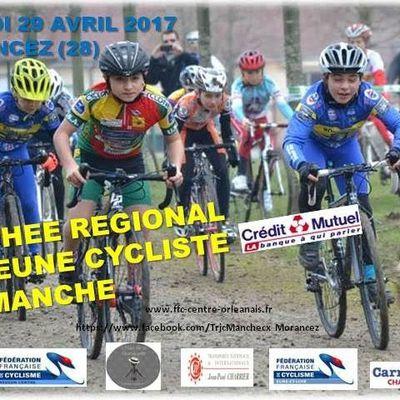 1ère manche du Trophée Régional du Jeune cycliste ce samedi à Morancez (28) avec pour le moment 154 engagés