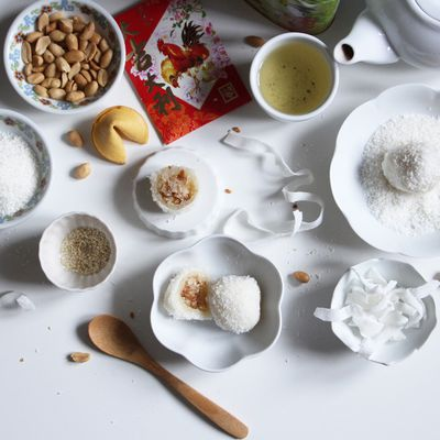 Perles de coco fourrées à la cacahuète-sésame, la petite douceur pour le nouvel an chinois