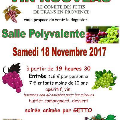 """Soirée """"Vin Nouveau"""""""