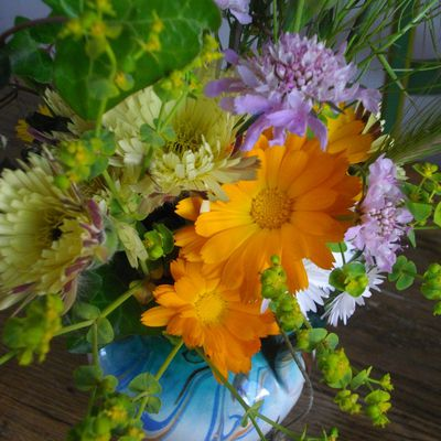 Bouquet des champs ( orange, mauve, citrine )