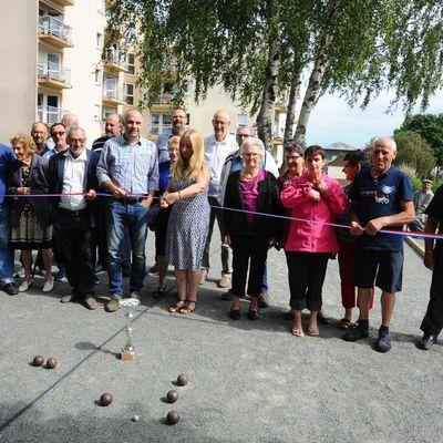 Inauguration du terrain de pétanque du Foyer Logement Vauguyon