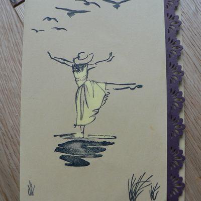 carte femme resplendissante stampin'up décoloration du papier