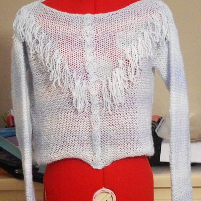 pull taille adulte au point mousse