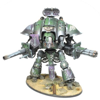 Commission painting: Imperial knight warden, Dark Angels