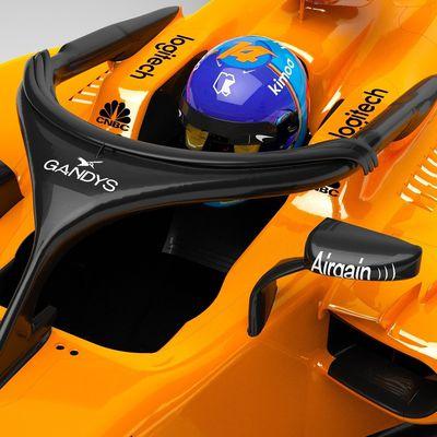 McLaren place une marque de claquettes sur le Halo à Melbourne
