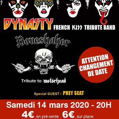 Dynasty (KISS) / Boneshaker (Motorhead) - Red Surio - Douai - 14 mars 2020 - 20H