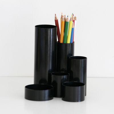 Pot à crayons noir Années 70 - Vintage