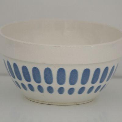Bol ancien décor bleu Digoin Sarreguemines Vintage