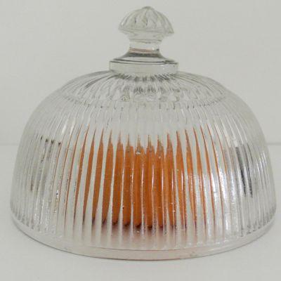 Petite Cloche en verre moulé ancienne Vintage