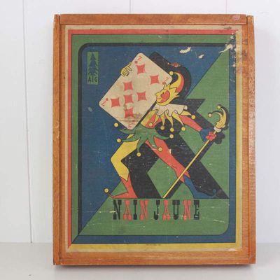 Jeux ancien le nain jaune Imprimerie Richard Lyon Vintage