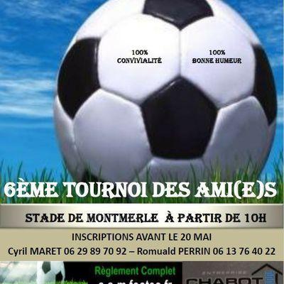 Montmerle:Le tournoi des ami(e)s se déroulera le 3 Juin