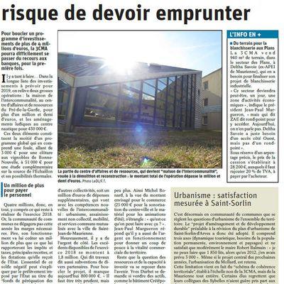 3CMA..LA COMMUNAUTE DE COMMUNES RISQUE DE DEVOIR EMPRUNTER