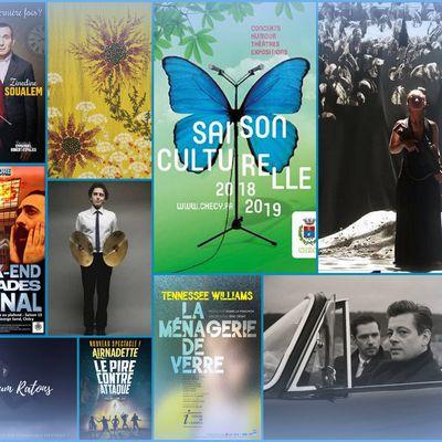 Saison culturelle 2018/2019 à Chécy: Benjamin Biolay, Melvil Poupaud, Lina El Arabi, Airnadette, Virginie HOCQ,  Zinedine SOUALEM…