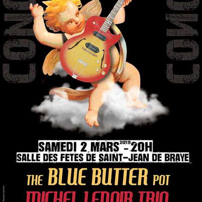 THE BLUE BUTTER POT et MICHEL LENOIR TRIO : du blues programmé par Les Casseroles le 2 mars à  St Jean de Braye