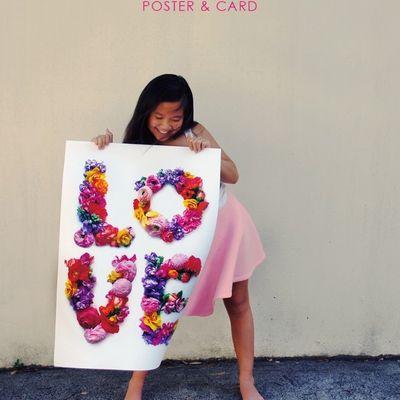 Love fleuri en poster ou en carte