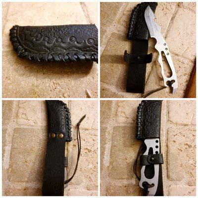 Cuir fourreau couteau