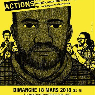 ACTIONS aux Eaux-Vives, spectacle - accueil des réfugiés