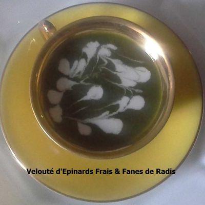 Velouté d'Epinards Frais & Fanes de Radis (cookeo)
