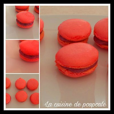 Macaron aux fruits rouges au thermomix ou sans