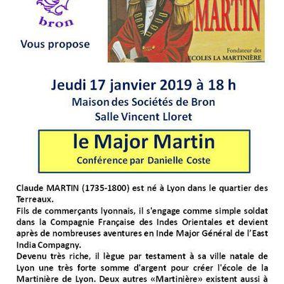Conférence le jeudi 17 janvier 2019