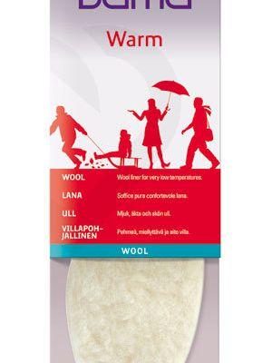 Bama Wool: Semelles intérieures en laine véritable pour avoir chaud aux pied