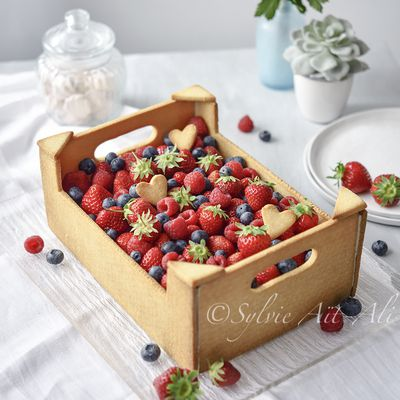 Gâteau cagette de fruits