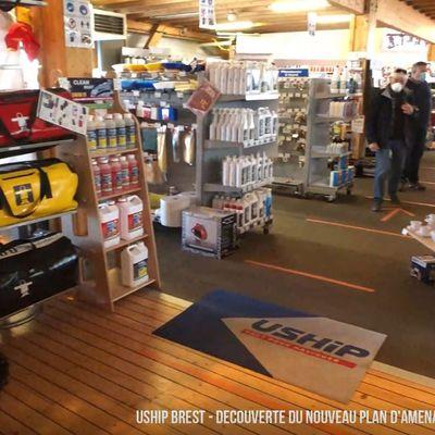VIDEO - découverte des nouveaux aménagements du magasin d'accastillage Uship Brest (29)