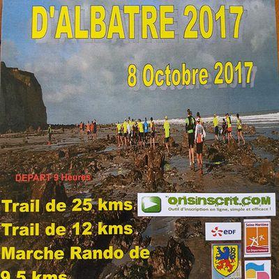 TRAIL DE LA COTE D'ALBATRE 2017
