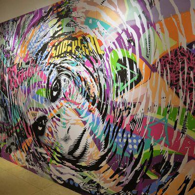 Exposition street art [Entre deux] à l'école des Gobelins