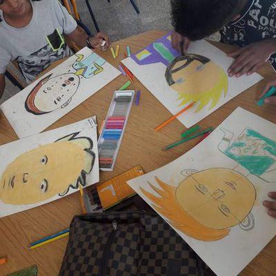 Festival Rythmes et Couleurs - atelier portrait avec Alexe