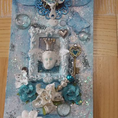 "Mixed media tag ""Sweet Angel"""