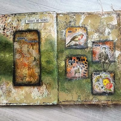 "Art Journal Page ""Thoughts and theories"""