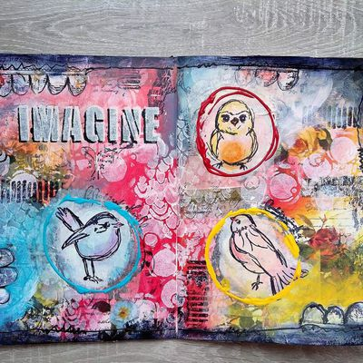 Mixed Media Art Journal Page - Video tutorial