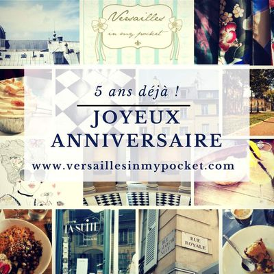 Versailles in my pocket souffle sa 5ème bougie