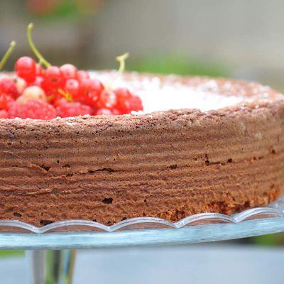 Gâteau au chocolat, noix de coco et mascarpone