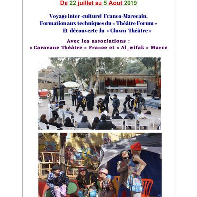 De Casablanca à Essaouira. Formation au Théâtre Forum. Initiation au Clown. Eté 2019.
