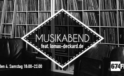 Check out your mind - MUSIKABEND feat. Lomax-deckard.de 27.10.2018 von 18 - 22 Uhr