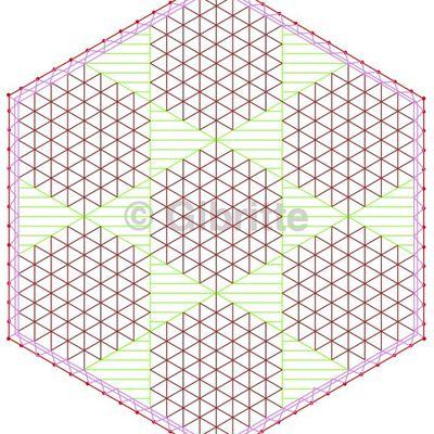 Un hexagone de fond malin