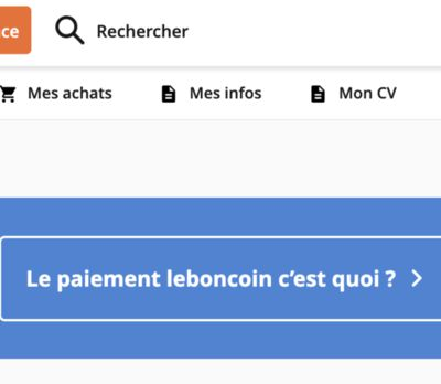 J'ai testé le paiement directement via LEBONCOIN