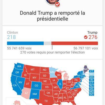 Elections américaines Nov. 2016 - Candidat Donald TRUMP élu Président des Etats-Unis d'Amérique