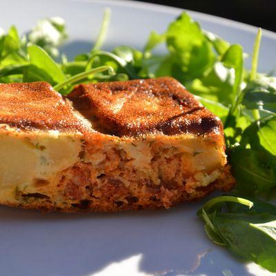 Cake aux pommes de terre et au chorizo