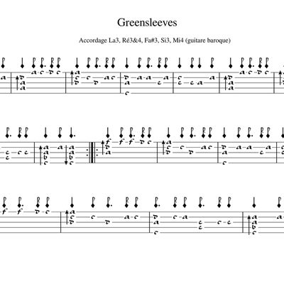 GreenSleeves - Anonyme