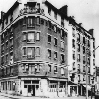 Rue Henri Barbusse ( anciennement Rue du Canal) . Joinville le pont. Années 50/60 . Collection Association La Mémoire au Présent.