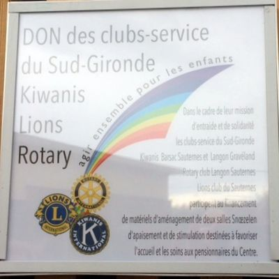 REMISE DE CHEQUE INTERCLUB LE 14 MARS VERDELAIS