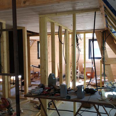Murs, cloisons et planchers : en cours de réalisation