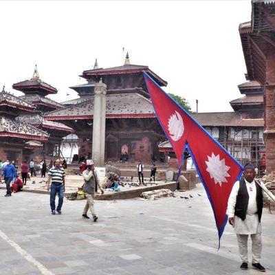 Katmandou (3) ... Le Durbar Square de Katmandou en pleine restauration