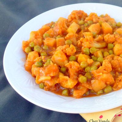 Chou-fleur au curry Vindaloo