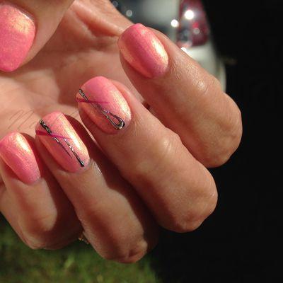 Nail art: Corail d'été
