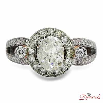 Round Shape Solitaire Engagement Ring Impar